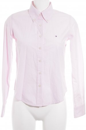 Tommy Hilfiger Shirt Blouse white-light pink check pattern business style
