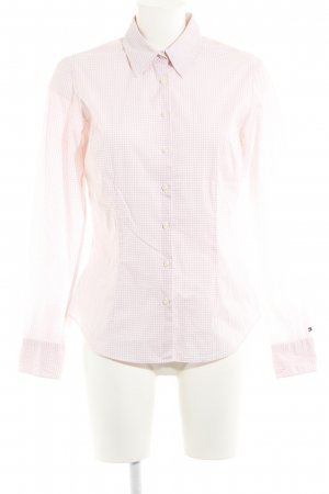 Tommy Hilfiger Hemd-Bluse weiß-hellrosa Karomuster Casual-Look