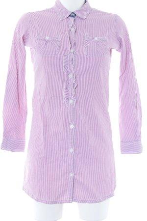 Tommy Hilfiger Hemd-Bluse weiß-himbeerrot Streifenmuster Business-Look