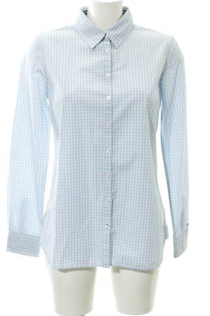 Tommy Hilfiger Hemd-Bluse weiß-himmelblau Karomuster Business-Look