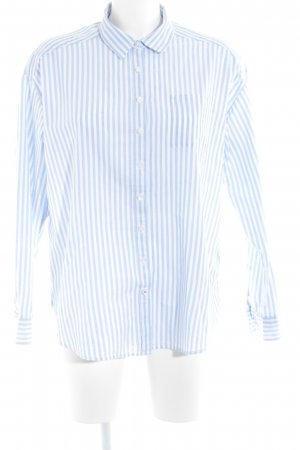 Tommy Hilfiger Hemd-Bluse weiß-himmelblau Ringelmuster Business-Look