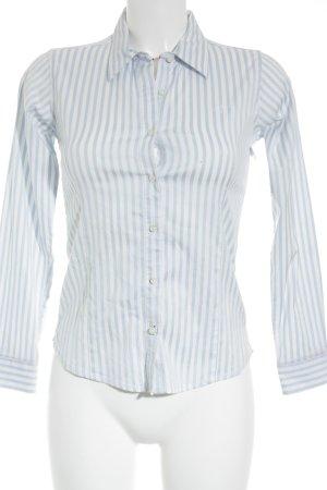 Tommy Hilfiger Hemd-Bluse weiß-himmelblau Streifenmuster Business-Look