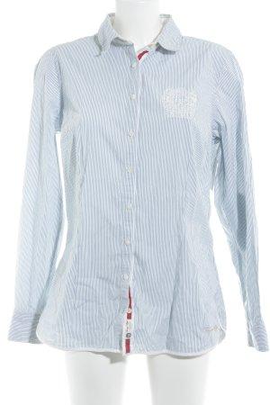 Tommy Hilfiger Hemd-Bluse weiß-kornblumenblau Streifenmuster Elegant