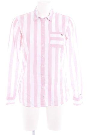 Tommy Hilfiger Blouse-chemisier blanc-rose motif rayé style décontracté