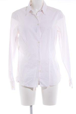 Tommy Hilfiger Hemd-Bluse weiß-rosé Streifenmuster Business-Look