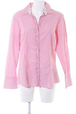 Tommy Hilfiger Hemd-Bluse weiß-rot Streifenmuster Business-Look