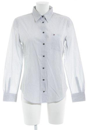 Tommy Hilfiger Hemd-Bluse weiß-schwarz Nadelstreifen Business-Look