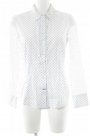 Tommy Hilfiger Hemd-Bluse weiß-schwarz Punktemuster Casual-Look