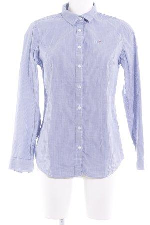 Tommy Hilfiger Hemd-Bluse weiß-stahlblau Streifenmuster Business-Look