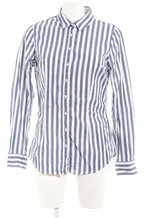 Tommy Hilfiger Hemd-Bluse weiß-stahlblau Streifenmuster Casual-Look