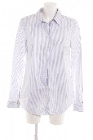 Tommy Hilfiger Hemd-Bluse weiß-stahlblau Streifenmuster Elegant