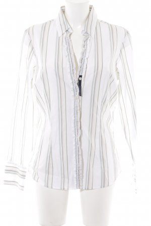 Tommy Hilfiger Shirt Blouse white striped pattern casual look