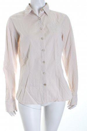 Tommy Hilfiger Hemd-Bluse wollweiß-creme Streifenmuster Business-Look