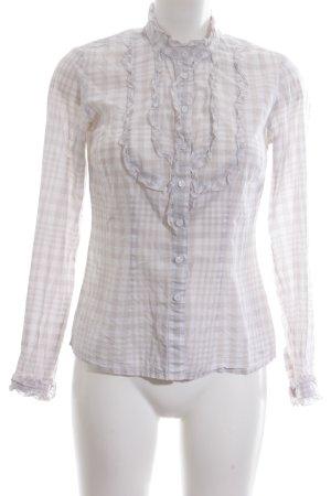 Tommy Hilfiger Blusa-camisa blanco puro-blanco estampado a cuadros look casual