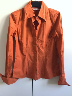 Tommy Hilfiger Camicia a maniche lunghe arancione scuro-arancio neon Cotone