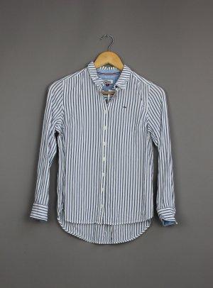 Tommy Hilfiger Camicia a maniche lunghe bianco-blu scuro