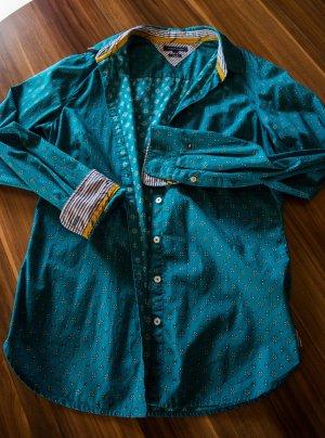 Tommy Hilfiger Hemdbluse Gr.36 Farbe blau-grün