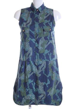Tommy Hilfiger Abito blusa camicia blu-turchese motivo astratto stile casual
