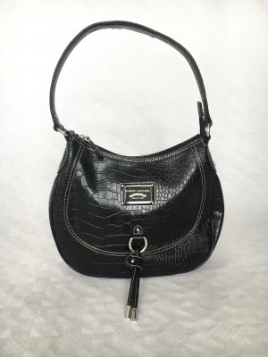 Tommy Hilfiger Carry Bag silver-colored-black imitation leather