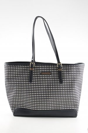Tommy Hilfiger Carry Bag black-white check pattern business style