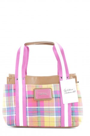Tommy Hilfiger Carry Bag camel check pattern casual look