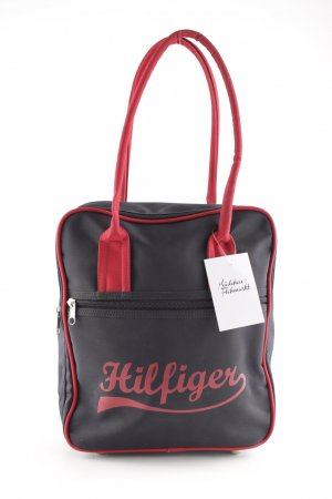 Tommy Hilfiger Carry Bag dark blue-red printed lettering athletic style