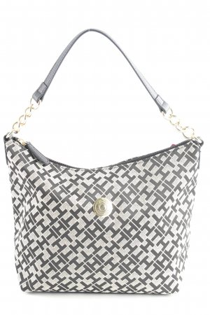 Tommy Hilfiger Carry Bag black-pale yellow allover print elegant