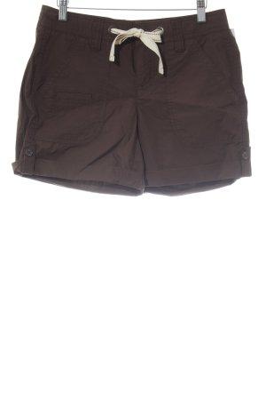 Tommy Hilfiger High-Waist-Shorts dunkelbraun Beach-Look