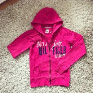 Tommy Hilfiger Hoodie Jacke pink Logo Sweatshirt Sweater Jumper