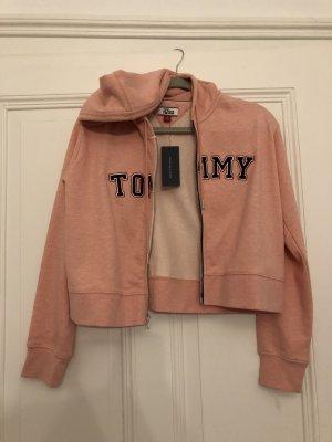 Tommy Hilfiger Giacca con cappuccio rosa pallido-blu scuro