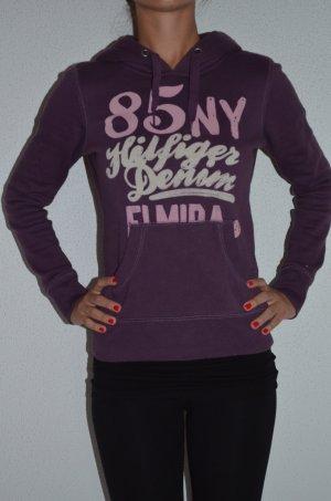 Tommy Hilfiger Hoodie Sweatshirt lila Gr. XS