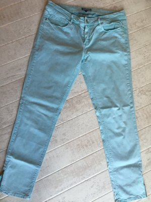 Tommy Hilfiger Capris baby blue-sage green cotton