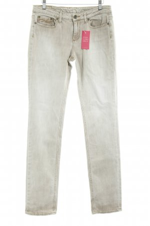 Tommy Hilfiger Lage taille broek beige casual uitstraling