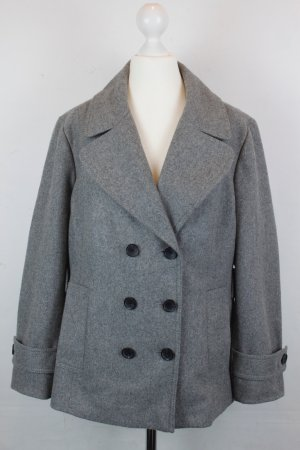 Tommy Hilfiger Pea Jacket silver-colored-grey wool