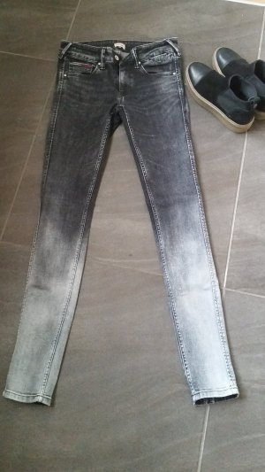Tommy Hilfiger Skinny jeans zwart-grijs