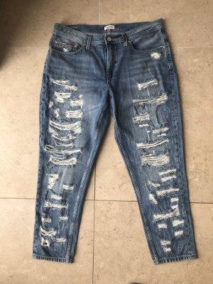 Tommy Hilfiger Denim Boyfriend Jeans steel blue-white