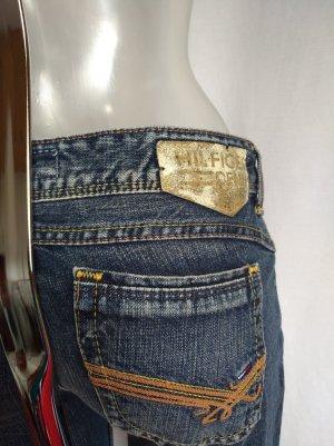 Tommy Hilfiger Jeans a gamba dritta grigio-blu acciaio Cotone