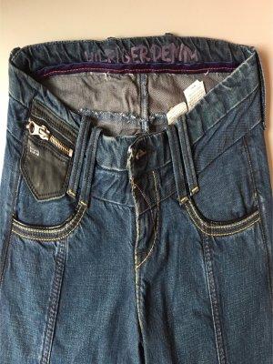 Tommy Hilfiger Jeans Größe 28 36/38 blau Leder