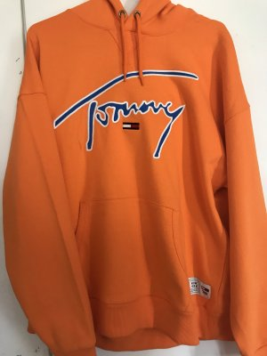 Tommy Hilfiger Jeans Hoodie Gr XL Orange
