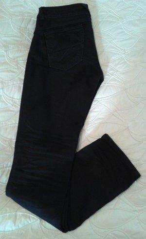 Tommy Hilfiger Denim Jeans vita bassa nero Cotone