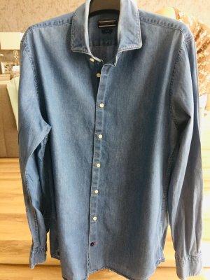 Tommy Hilfiger Camisa vaquera azul