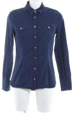 Tommy Hilfiger Camicia denim blu scuro stile jeans
