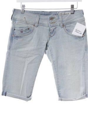Tommy Hilfiger Pantalón corto de tela vaquera azul claro look casual