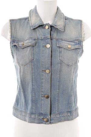 Tommy Hilfiger Gilet en jean bleu azur style décontracté