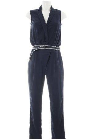 Tommy Hilfiger Jumpsuit blau-wollweiß Streifenmuster Business-Look