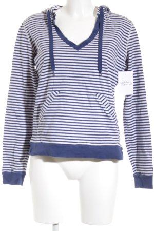 Tommy Hilfiger Jersey con capucha azul-blanco estampado a rayas estilo sencillo