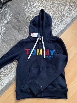 Tommy Hilfiger Chaqueta con capucha azul oscuro-rojo