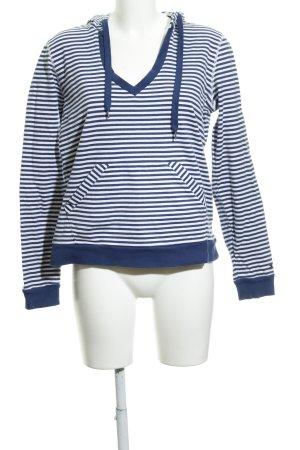 Tommy Hilfiger Jersey con capucha azul oscuro-blanco estampado a rayas