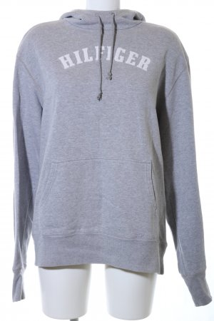 Tommy Hilfiger Hooded Sweatshirt light grey flecked casual look