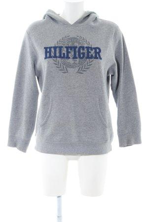 Tommy Hilfiger Kapuzensweatshirt hellgrau-blau meliert Casual-Look